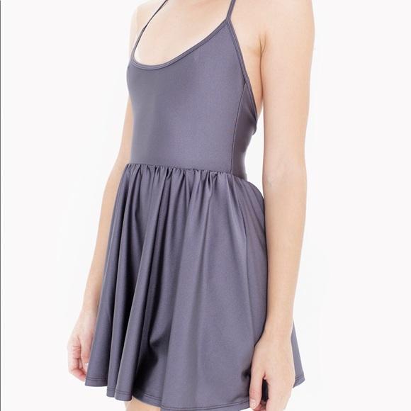 75694a313f8 American Apparel Dresses   Skirts - American Apparel gray skater halter dress  S